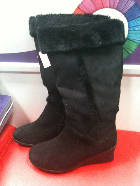 Black Suede Wedge Womens Shoes