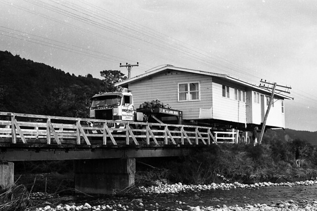 Reefton New Zealand  city pictures gallery : Moving house, Reefton, West Coast, New Zealand, 1976 | Flickr Photo ...