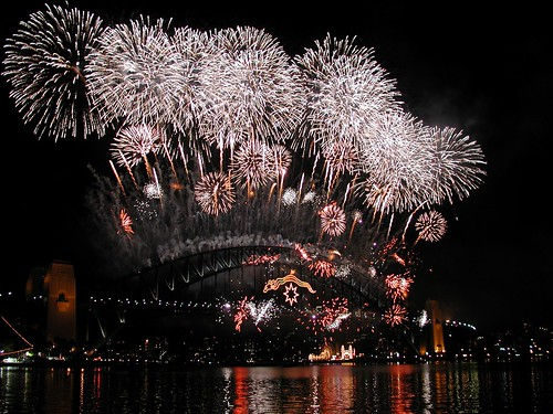 New Years Eve Fireworks, Sydney Harbour Bridge