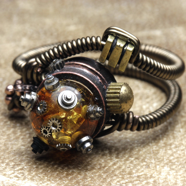 Ring In The Steampunk Decor To Pimp Up Your Home: Steampunk Jewelry Rings