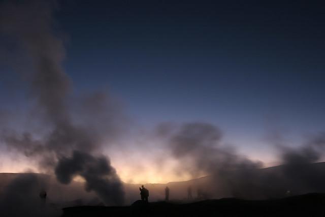 Solar de Manaña geyser basin