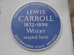 Photo of Charles Lutwidge Dodgson blue plaque