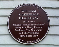 Photo of William Makepeace Thackeray claret plaque