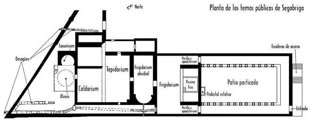 Plan of the Monumental Baths, Parque Arqueológico de Segóbriga