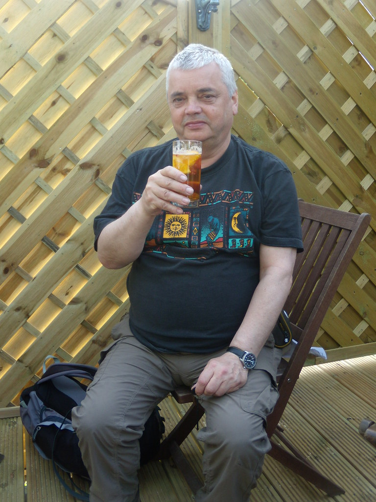 What the discerning walker is drinking these days (Pimms of course) Pub #3 The George Pluckley Circular with extension
