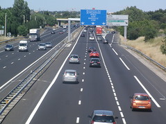 highway, traffic, road, lane, controlled-access highway, shoulder, overpass, road surface, infrastructure,