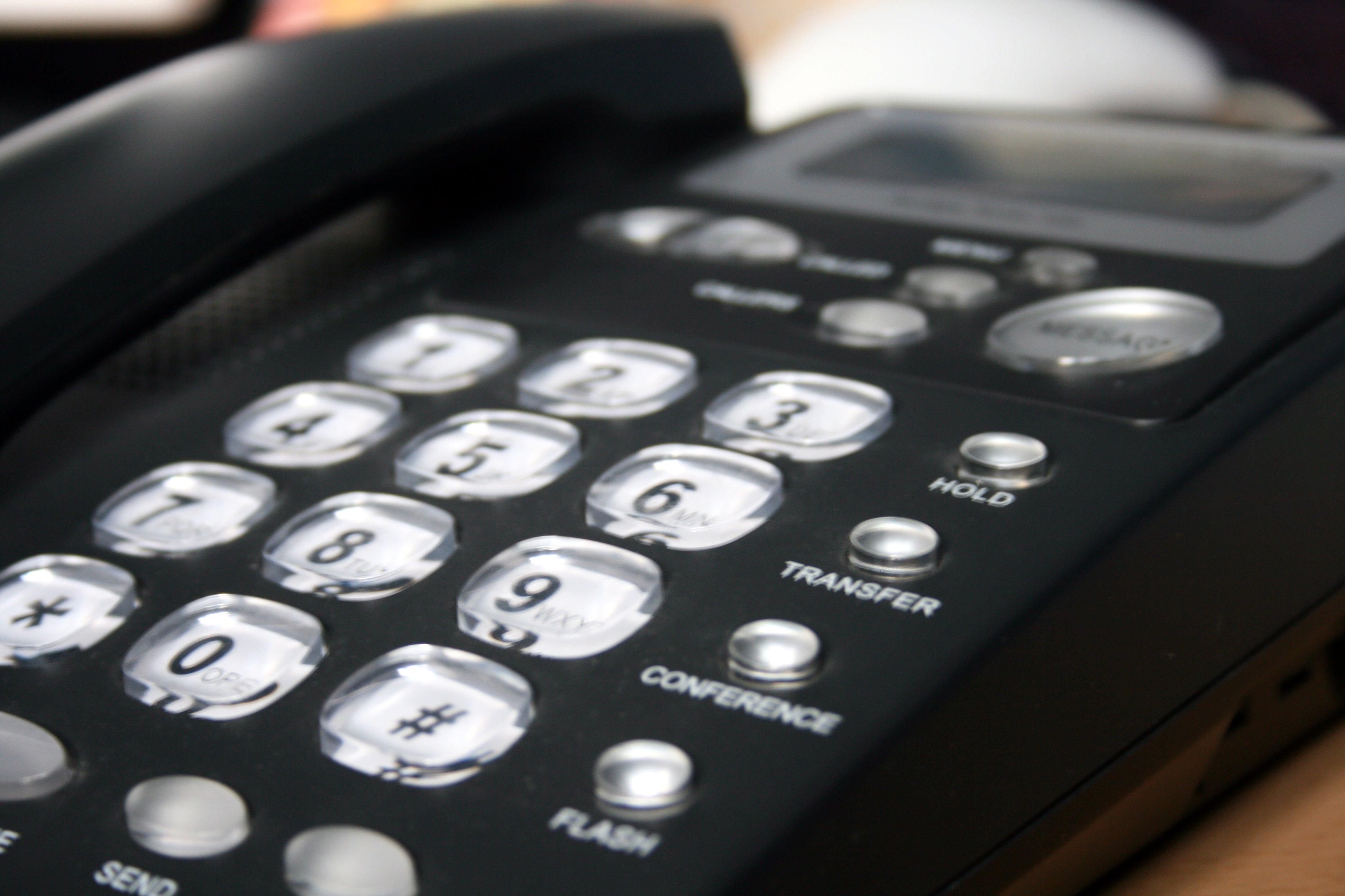 telefoon in een bedrijf