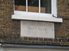 Photo of Michael Faraday grey plaque