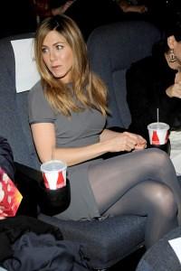 aniston pantyhose black Jennifer in