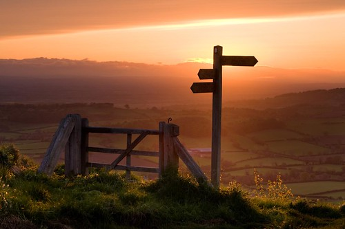Sunset on Sutton Bank