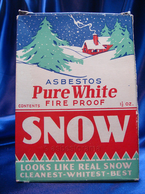 """Pure White"" Asbestos Snow Decoration"