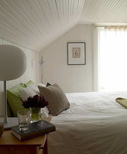 lovely white bedroom white beadboard modern lamp