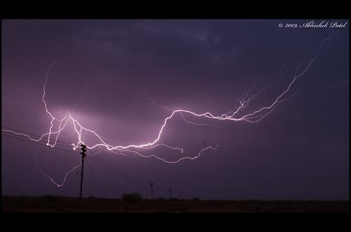 sunset beautiful dumas anp lightning 2009 thunder lightningbolt surat electrifying nikond40 nikond40kitlens 1855vr abhishekpatel patel© suratgujarat