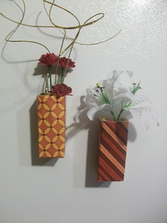 Recycled Magnetic Vases