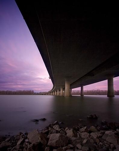 longexposure bridge sunset vancouver clouds oregon portland under freeway interstate 205 i205 nd400 reallylongexposure glennjackson