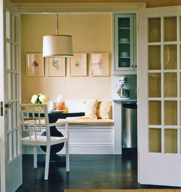 Dining Room on Modern Dining Room   Banquette Seating   Pedestal Table  From Domino