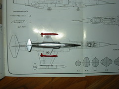 Minicraft 1/144 Lockheed F-104G Compared to plans