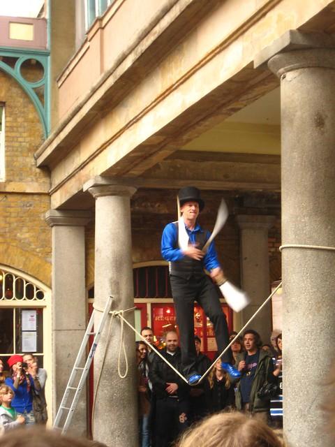 Juggling Knives in London