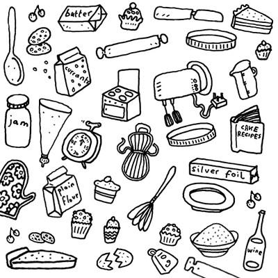 3504740892 - Dibujos de cocina para colorear ...