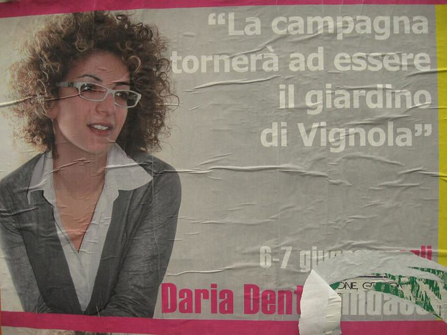 Manifesti elettorali Vignola 2009