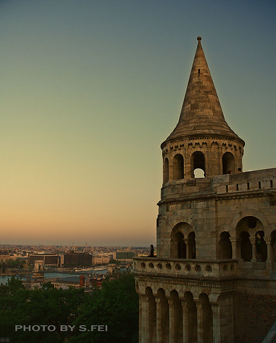 sunset hungary dusk budapest 日落 暮色 匈牙利 布达佩斯 fishmensbastion 渔人堡