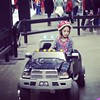 The girls got to do a test drive at the show too!