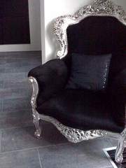 furniture, chair, black,