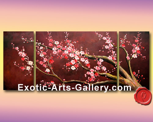 Cherry blossom painting 20 flickr photo sharing for Cherry blossom canvas painting