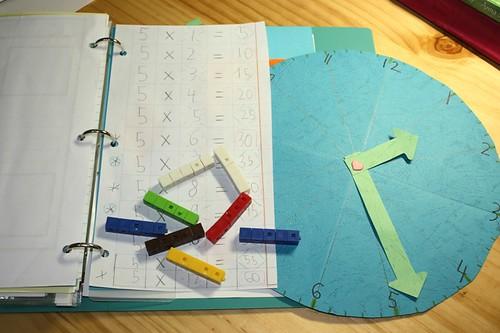math notebooking clock