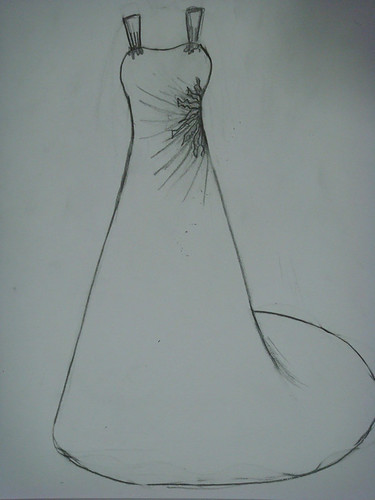 How to draw wedding dress for How to draw a wedding dress