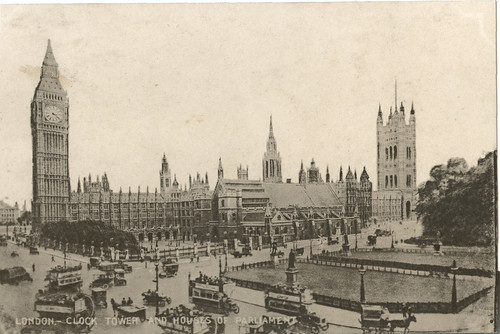 London- Clock Tower And Houses Of Parliament