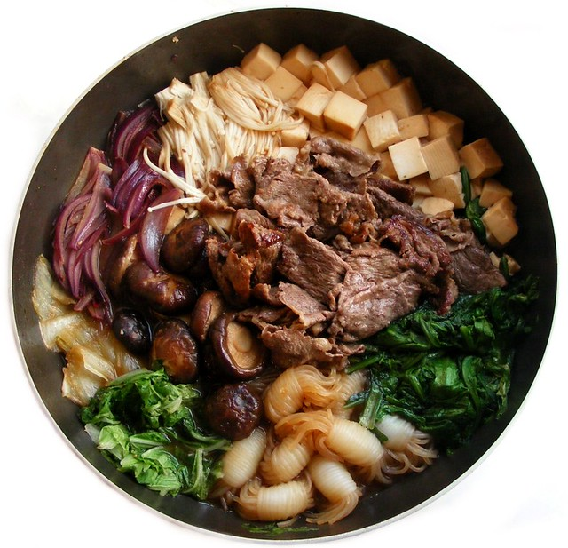 Sukiyaki | Preparations * Make the waishita-sauce: 5 T dash ...