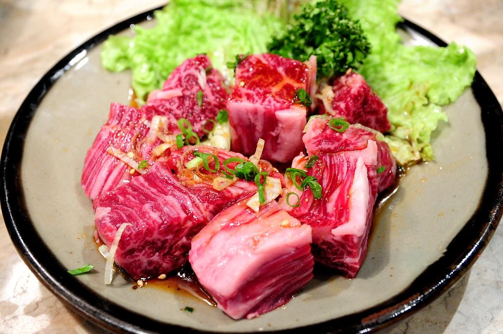 秘苑燒肉-牛橫隔膜角切 嚴選上ハラミ角 (1600)