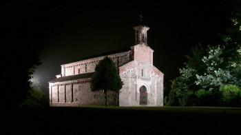 San Secondo, Romanesque church, at night