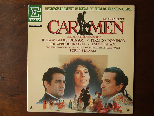 Bizet - Carmen - Julia Migenes Johnson, Placido Domingo, Ruggiero Raimondi, Faith Esham, Orch. Nat. de France, Lorin Maazel, Erato NUM 75120