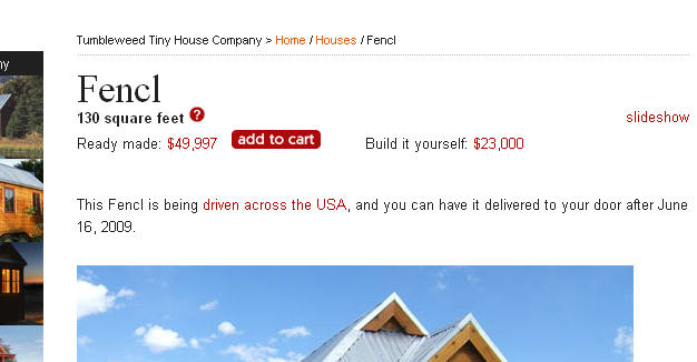 Home Shopping. Shopping for a physical house - ADD TO CART?