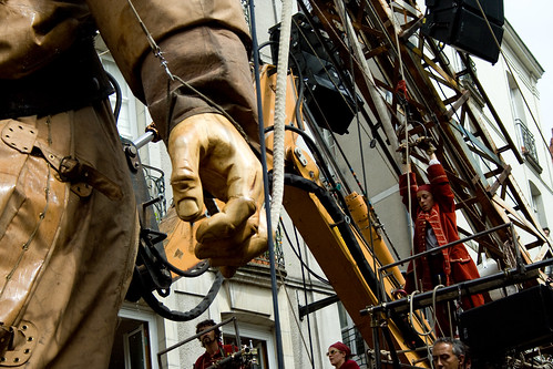 Le Scaphandrier de Royal de Luxe en action