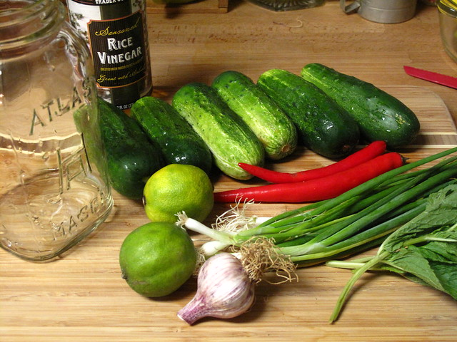 ingredients for fridge pickles