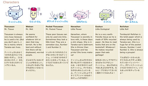 Character list from San-x Tissue san.   Flickr - Photo ...