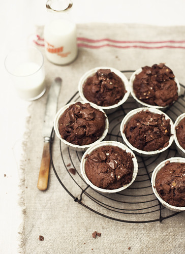 Triple Chocolate Toblerone Muffins