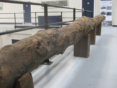 Ancient water pipes at Abbey Mills