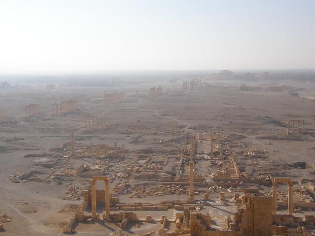 Vista de las ruinas de Palmira