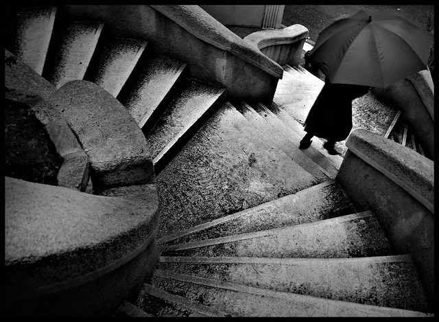 The Umbrella on the stairs