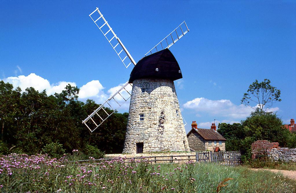 Bradwell Windmill, Milton Keynes, circa 1981