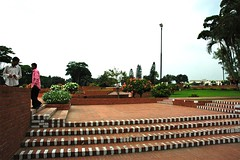 Extensive brick paths at জাতীয় স্মৃতি সৌধ Jatiyo Smriti Soudho Independence memorial park and gardens, Savar, Dhaka, Bangladesh