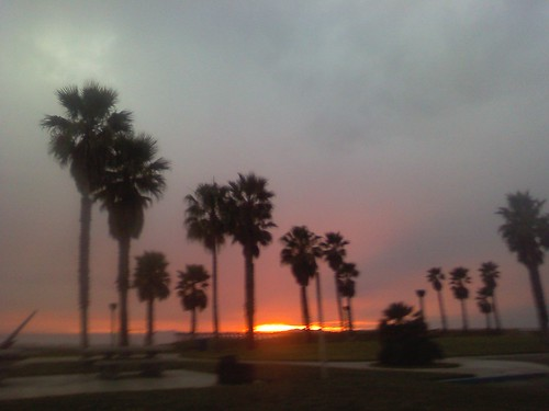 Port Hueneme sunset at the beach