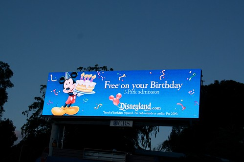 BIRTHDAY AT DISNEYLAND FREE