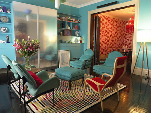 Captivating Red And Blue Living Room Part 24