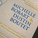 Michelle & Dustin's Letterpress Invites - Text Closeup