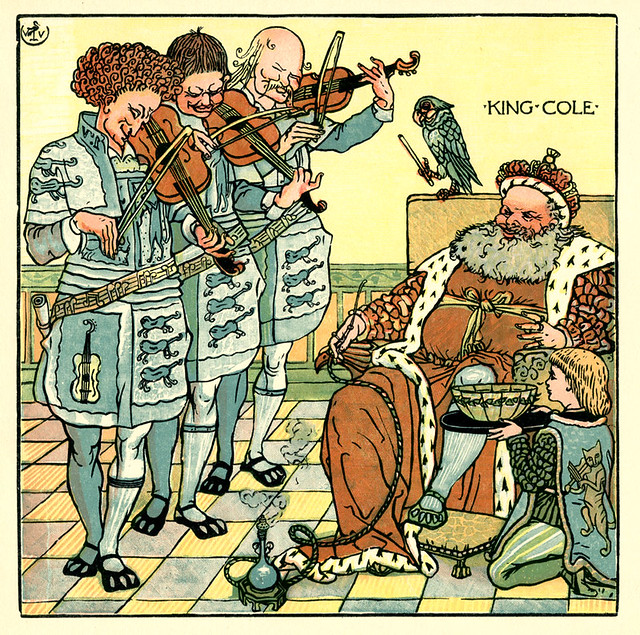 Old king cole from the baby 39 s opera by walter crane c1900 for Old king cole coloring page